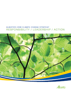 Alberta's 2008 Climate Change Strategy