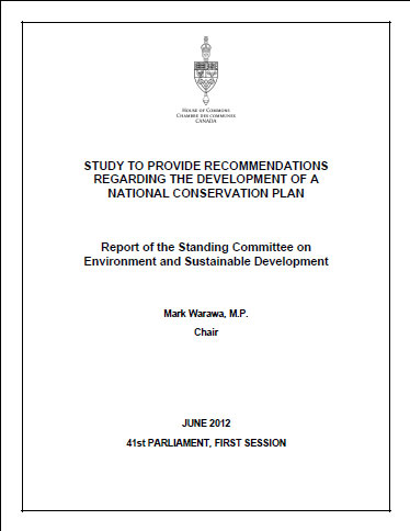 National Conservation Plan - Senate committee report
